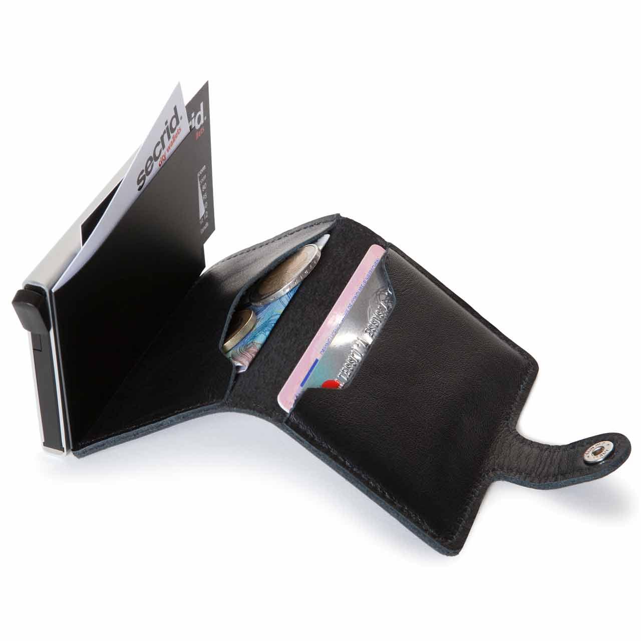 Secrid miniwallet original black leather | The Design Gift Shop