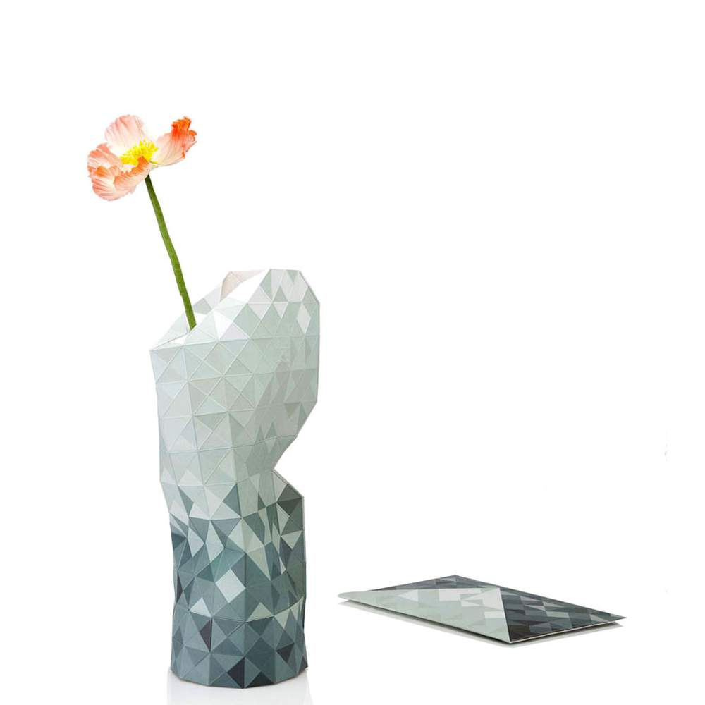 Grey Paper Vase slide on vase cover by Tiny Miracles Foundation  | The Design Gift Shop