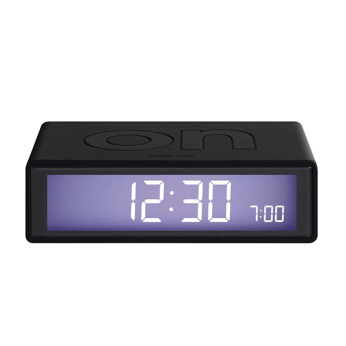LEXON Flip LCD alarm clock LR130 black | The Design Gift Shop