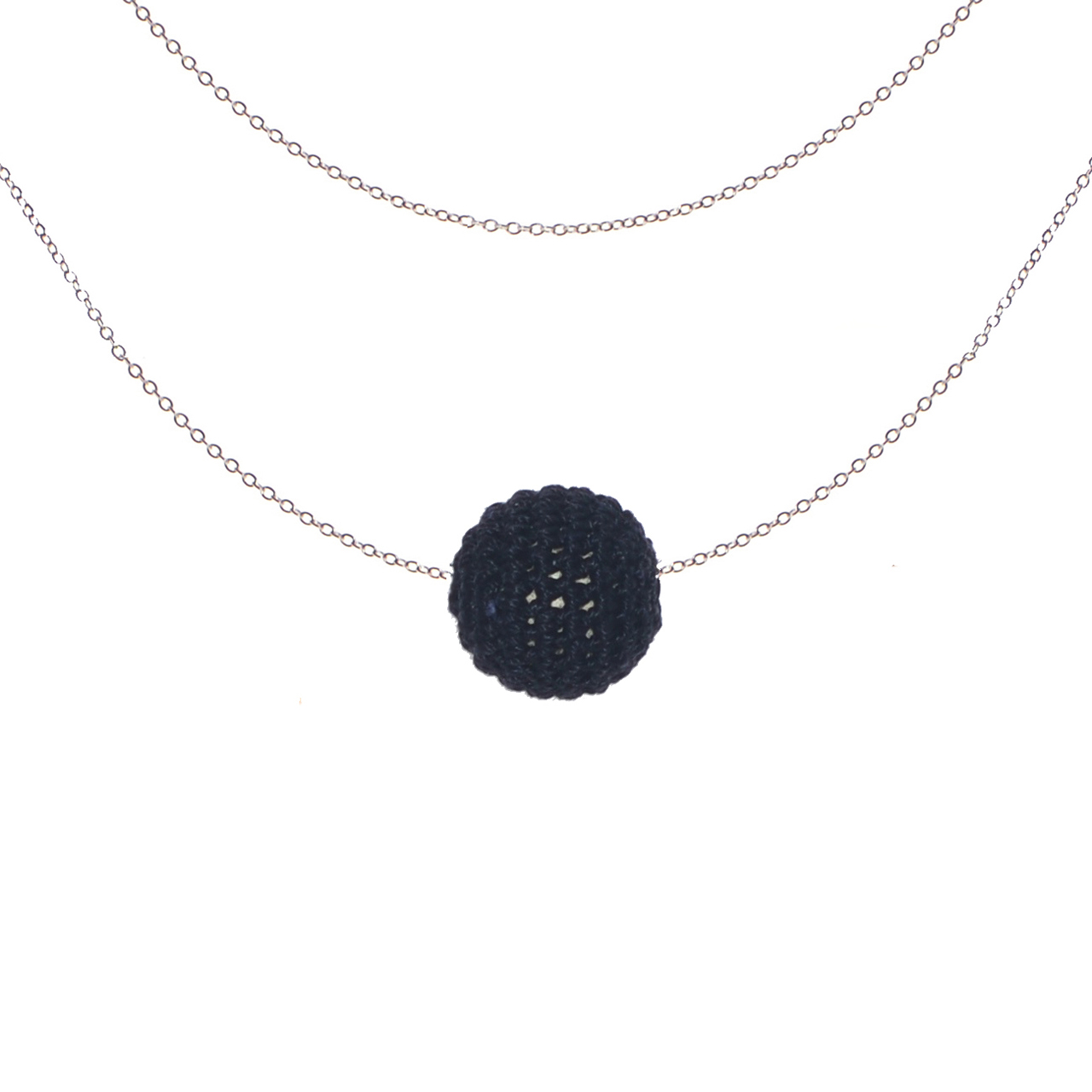 Mon Bijou - Necklace Night Out 1 charcoal | The Design Gift Shop