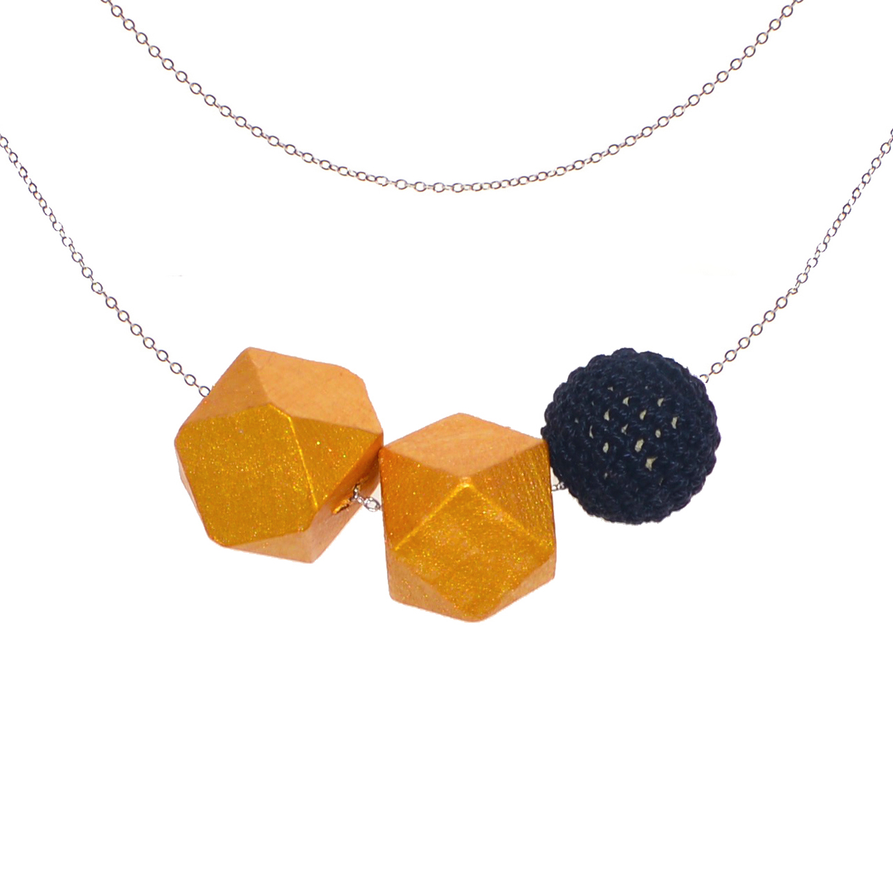 Mon Bijou - Necklace Night Out 3 charcoal | The Design Gift Shop