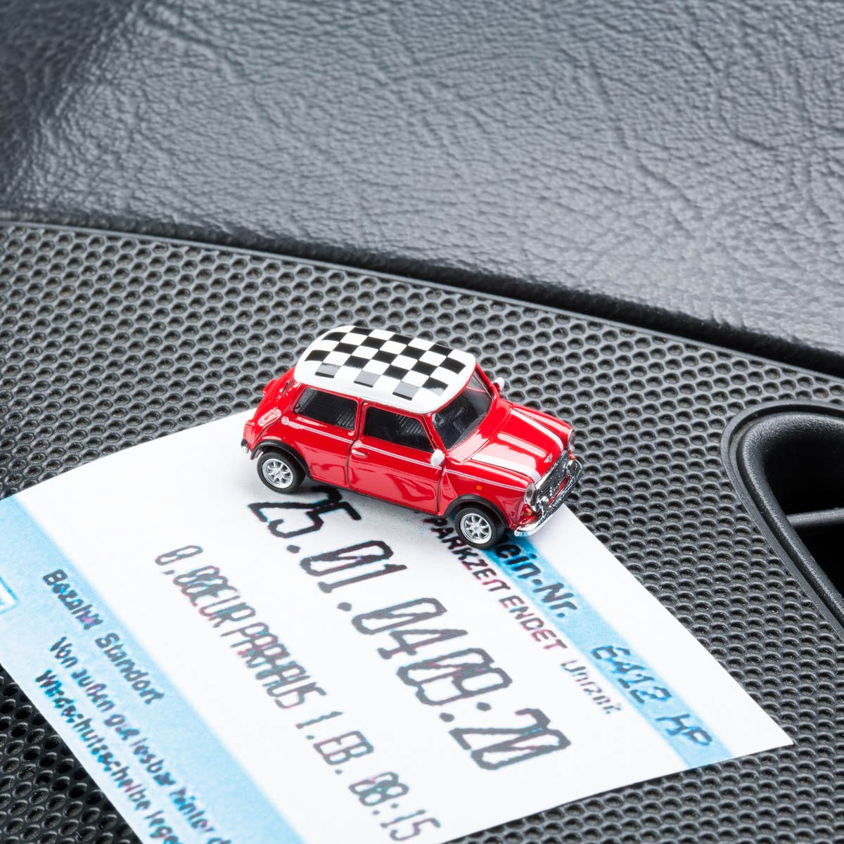 Mini Cooper with magnet as parking ticket holder | The Design Gift Shop