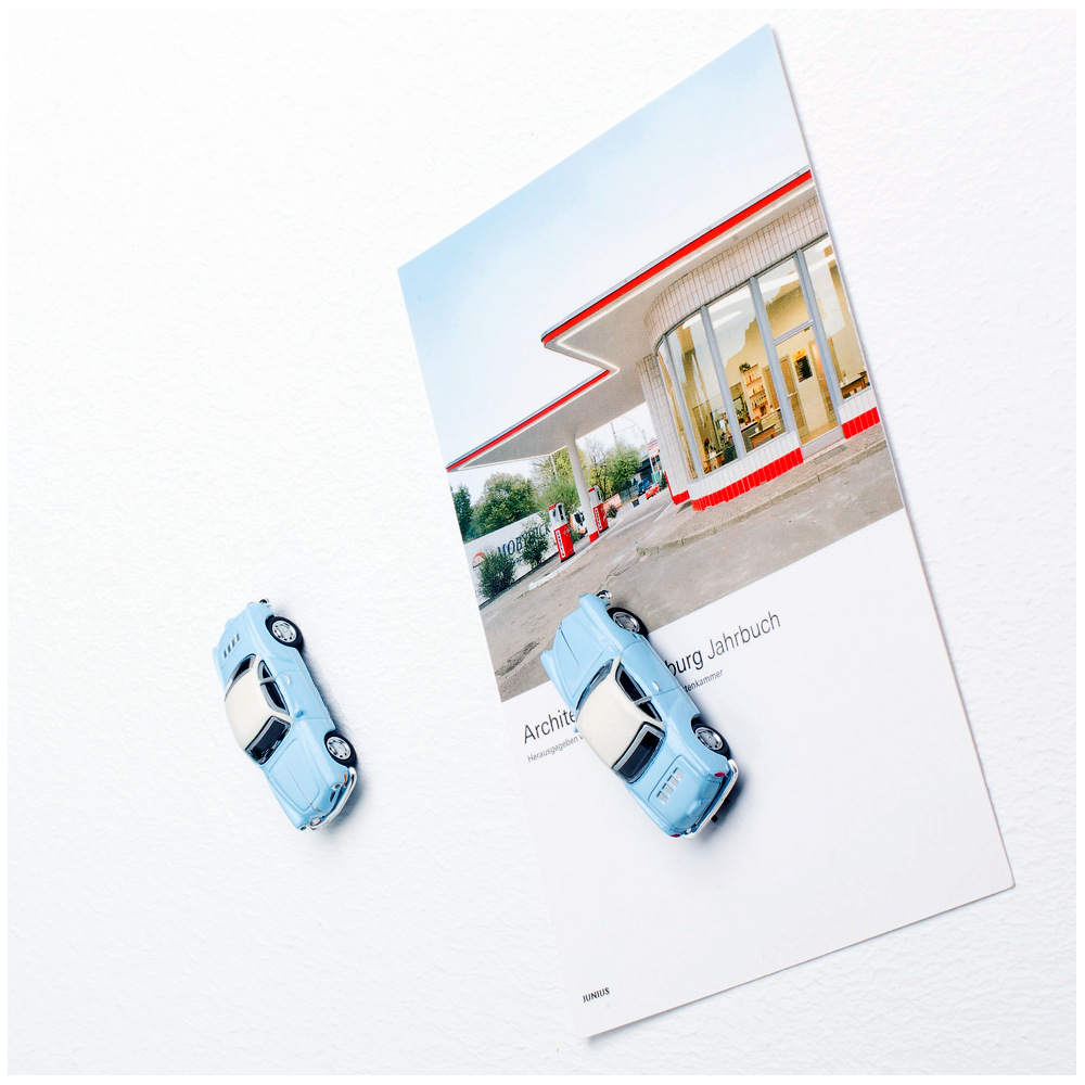 VW Karmann Ghia with magnet used as fridge magnet | The Design Gift Shop