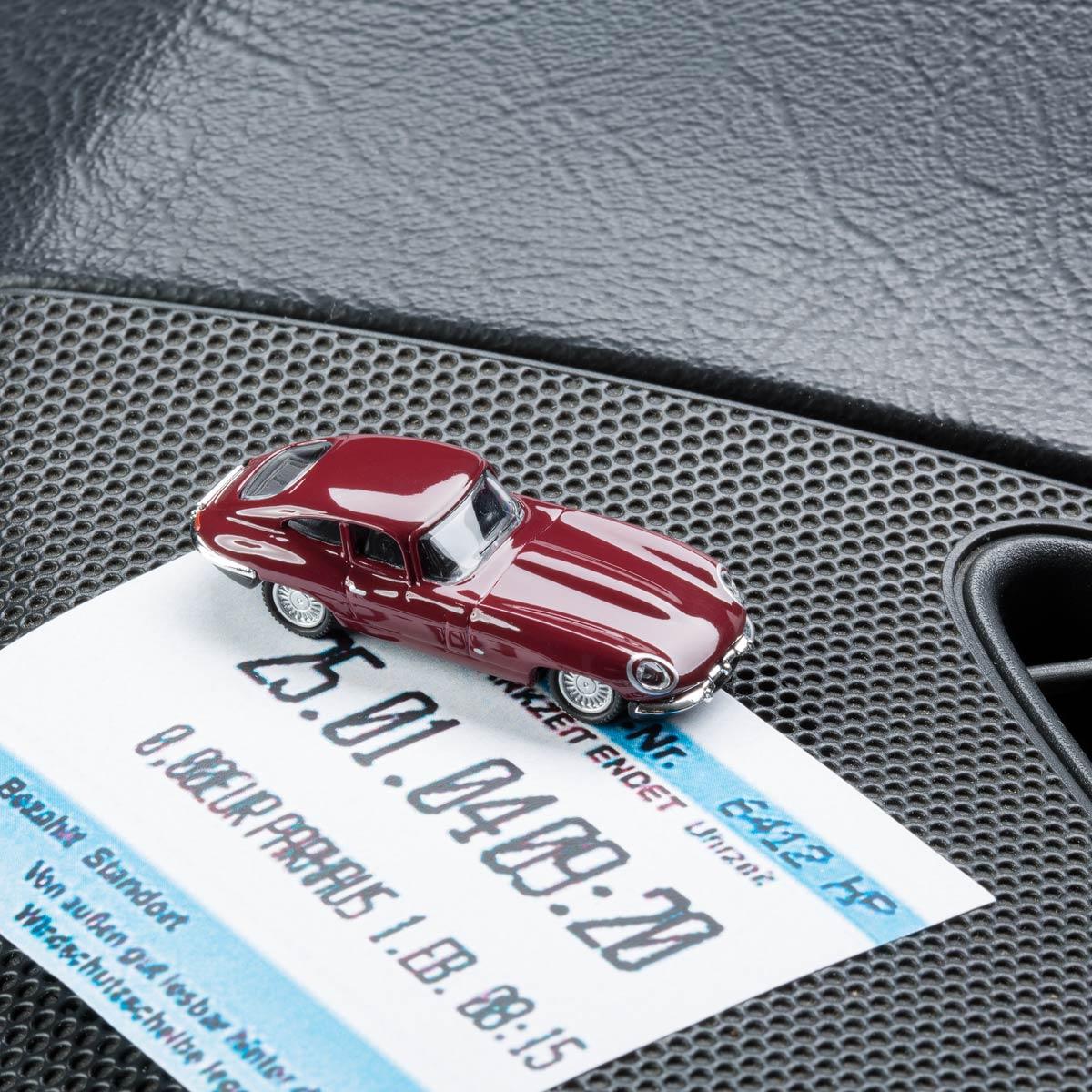 Jaguar E-Type die-cast with magnet as parking ticket holder | The Design Gift Shop