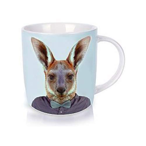 Annabel Trends Zoo Portraits Kangaroo coffee and tea mug | The Design Gift Shop