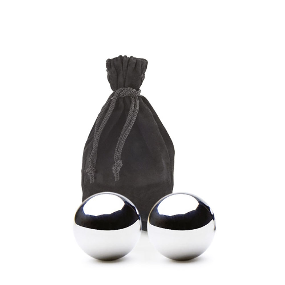 Stainless Steel Ice Balls and Satchel by Contento | The Design Gift Shop