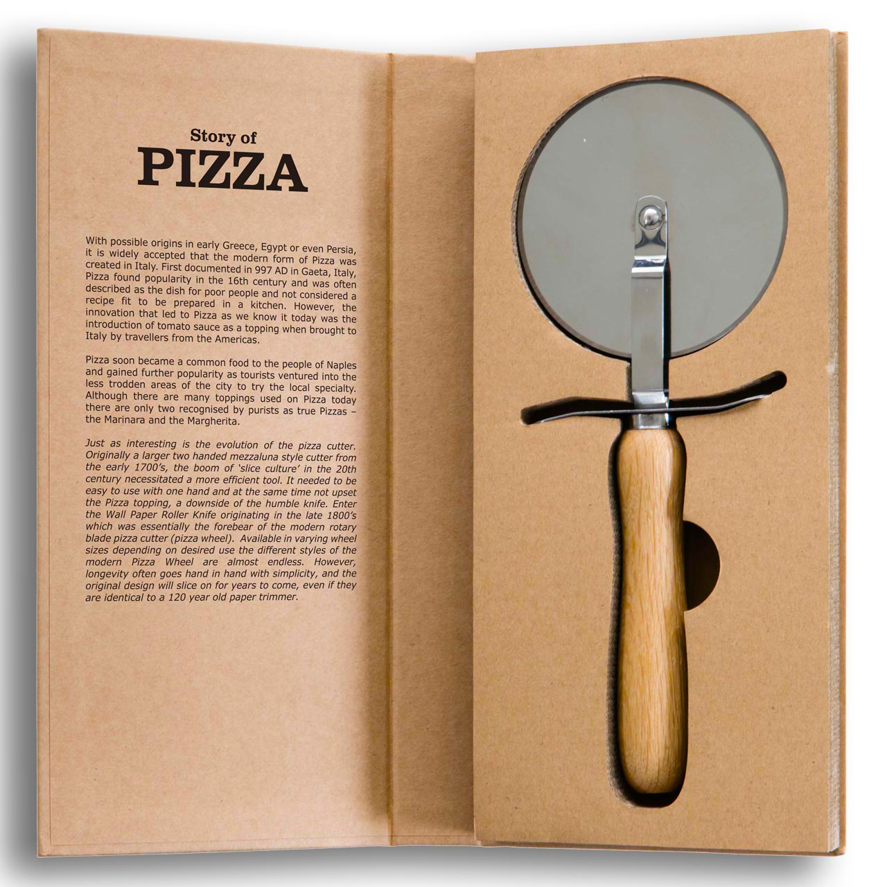 The Story of Pizza pizza cutter | The Design Gift Shop