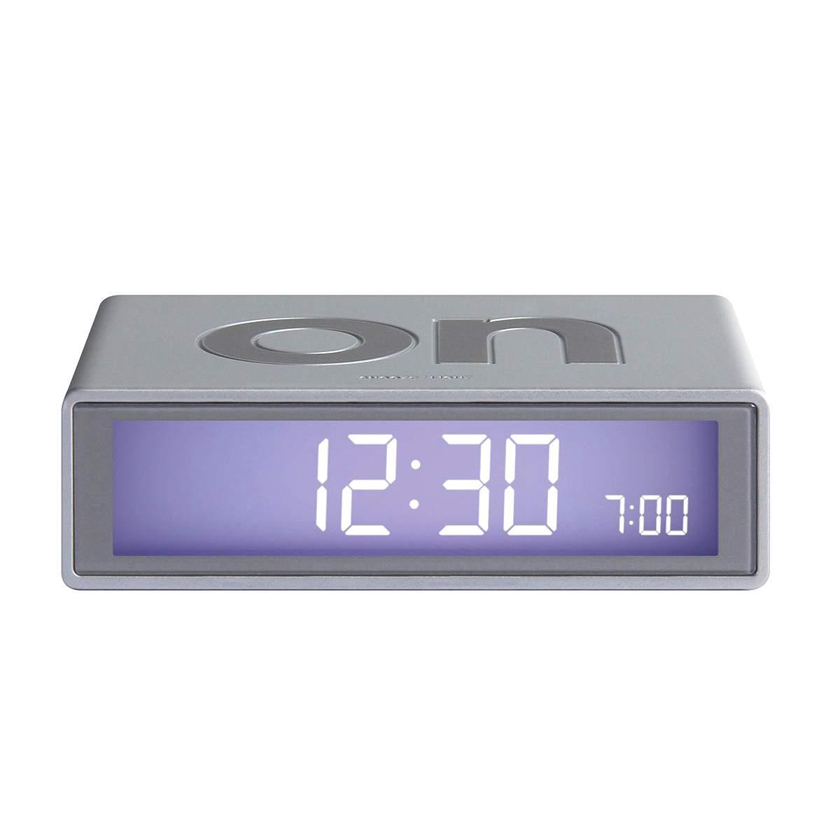LEXON Flip LCD alarm clock LR130 alu   The Design Gift Shop