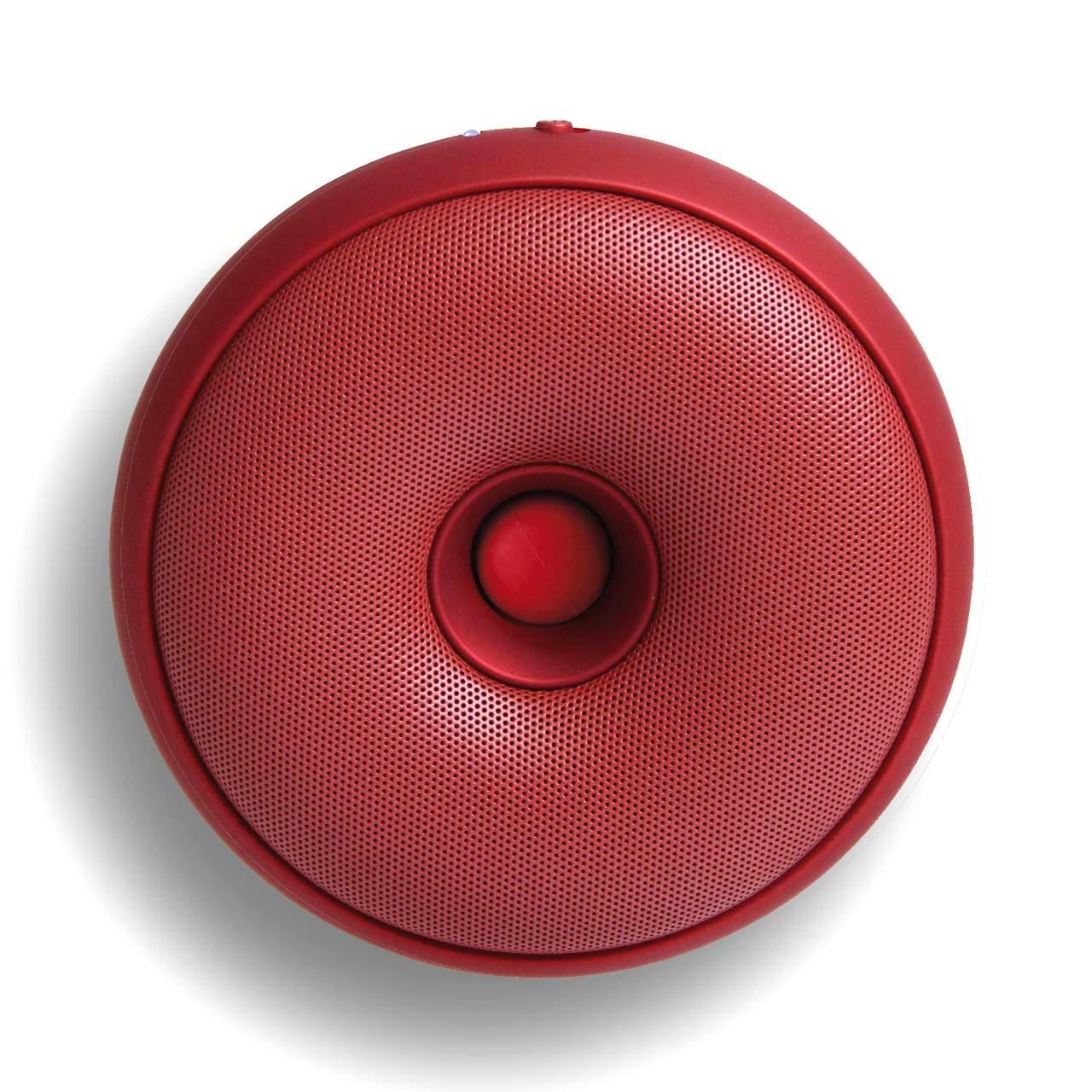 LEXON Hoop Speaker LA95 Metallic Red | The Design Gift Shop