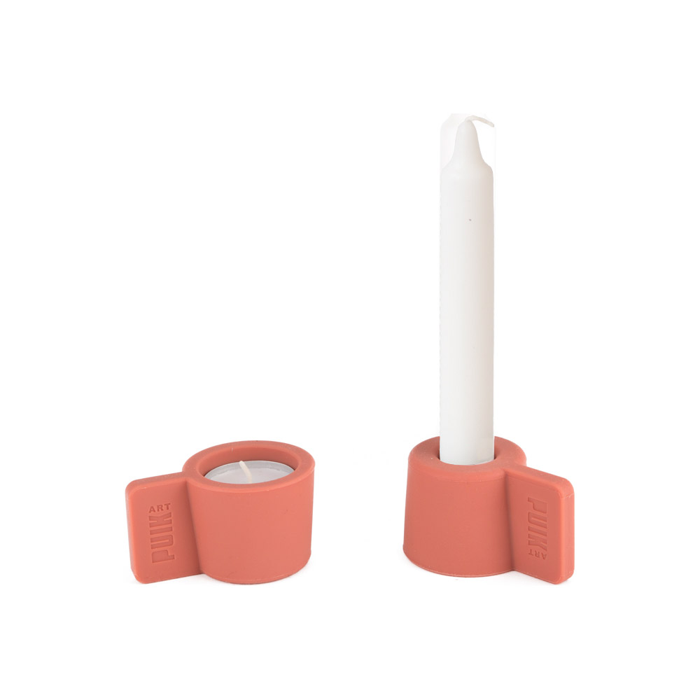 Pink Silicon Candle Holder Set SILLY by PUIKart | The Design Gift Shop