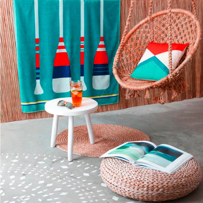 Luxe Beach Towel 'Paddle' by Jean-Vier | The Design Gift Shop