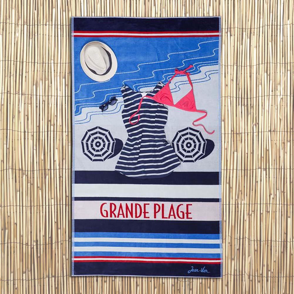 Luxe Beach Towel 'Olatua - Grand Plage' by Jean-Vier   The Design Gift Shop