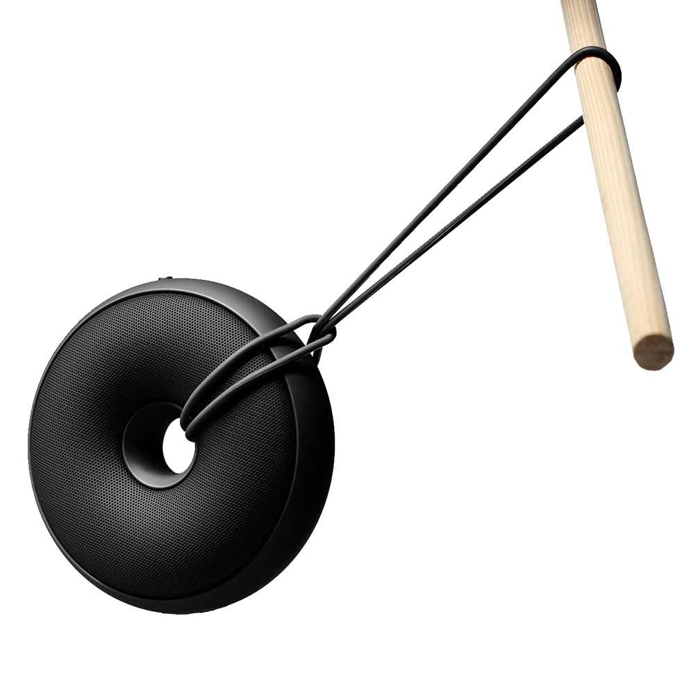 LEXON Hoop Speaker LA95N6 Black Gun | The Design Gift Shop