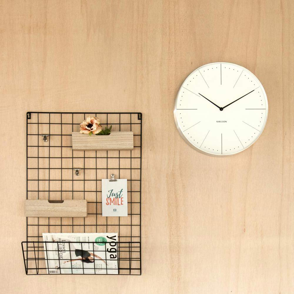 KARLSSON Wall Clock Normann White ( diameter 37.5cm)