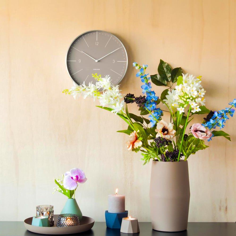 KARLSSON Wall Clock Normann Warm Grey ( diameter 37.5cm)