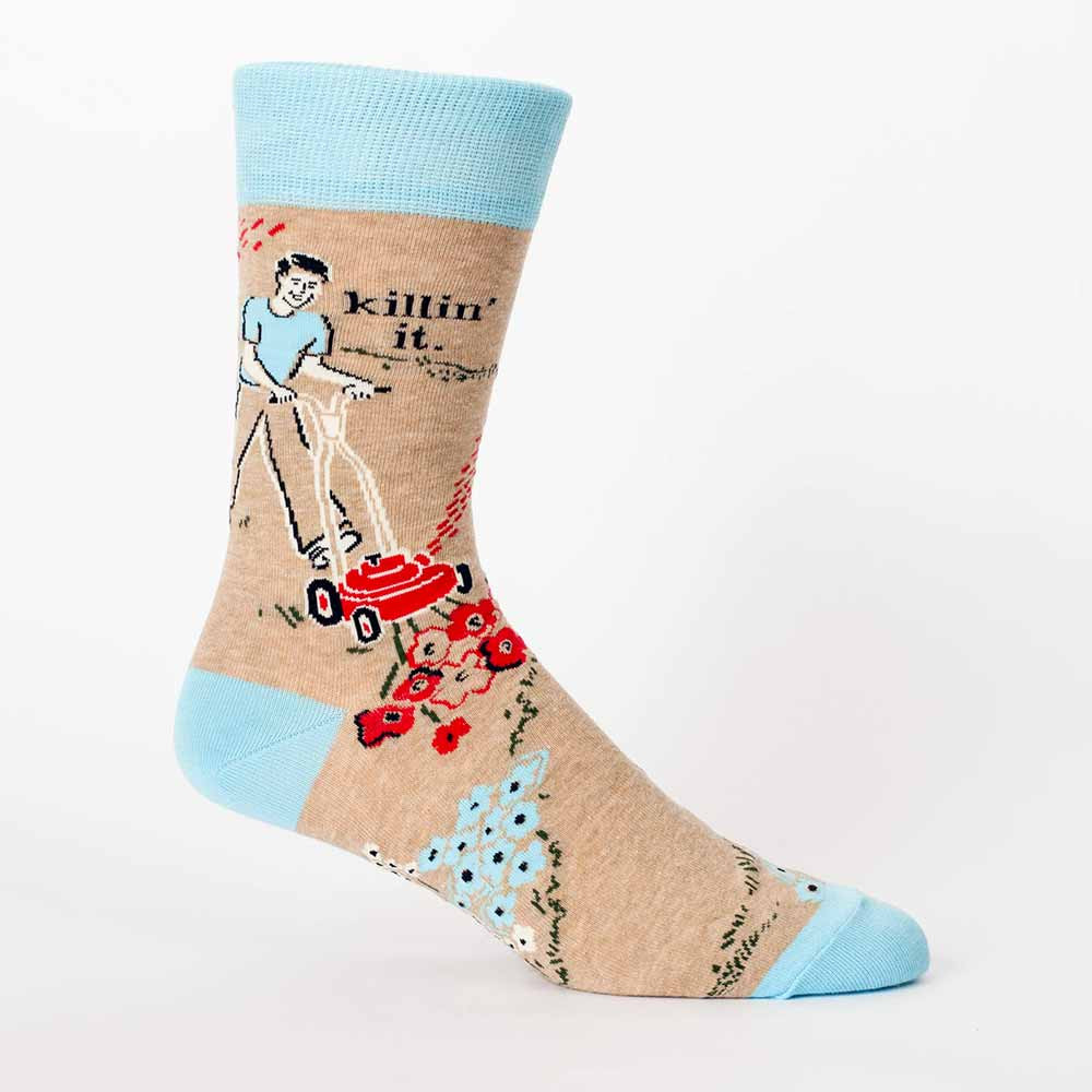 Blue Q Men's Socks 'Killin' it'   The Design Gift Shop