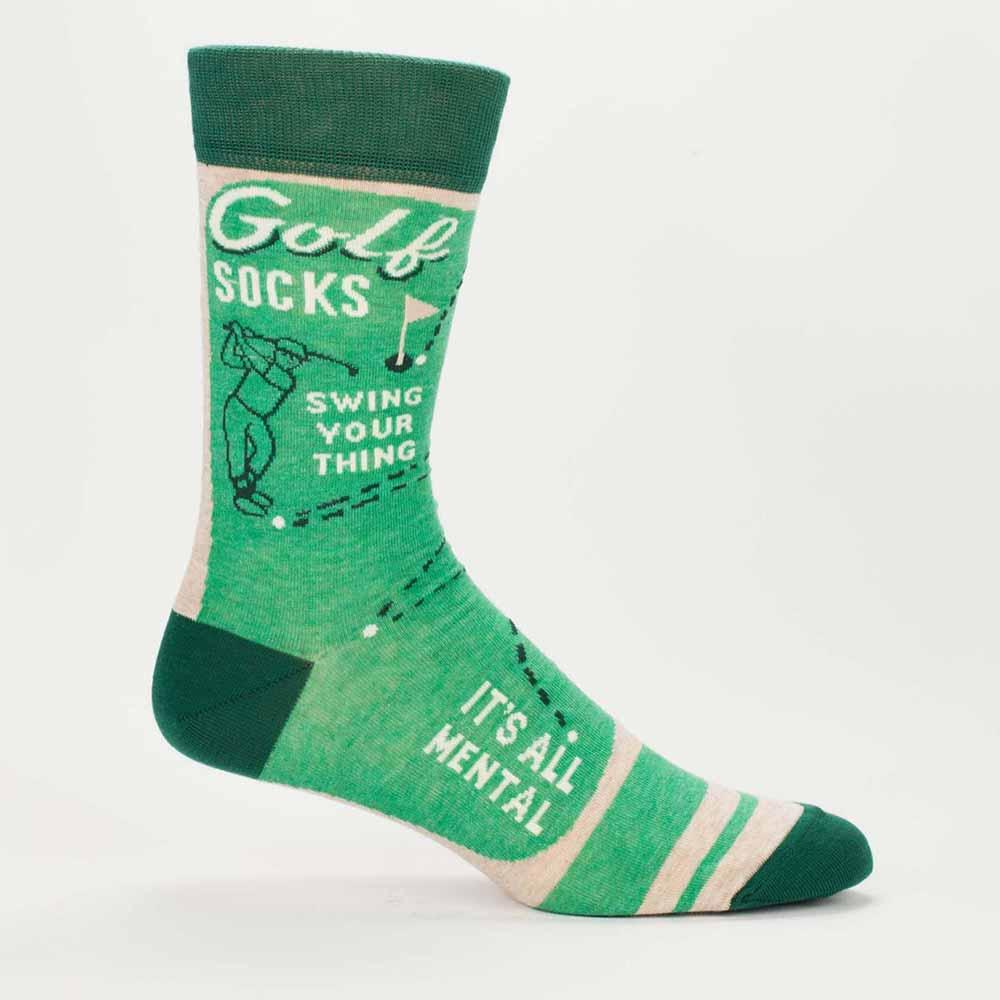 Blue Q Men's Socks 'Golf' | The Design Gift Shop