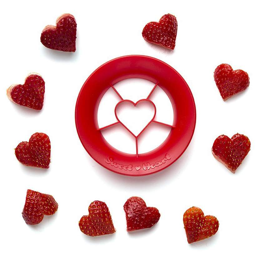 Strawberry Cutter Sweet Heart by Peleg Design | The Design Gift Shop