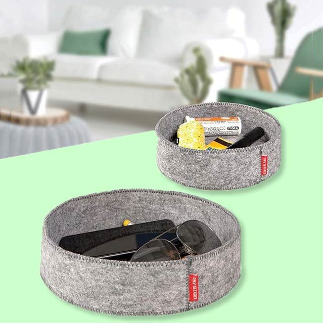 Kikkerland Catch-All Tray Set Grey   The Design Gift Shop