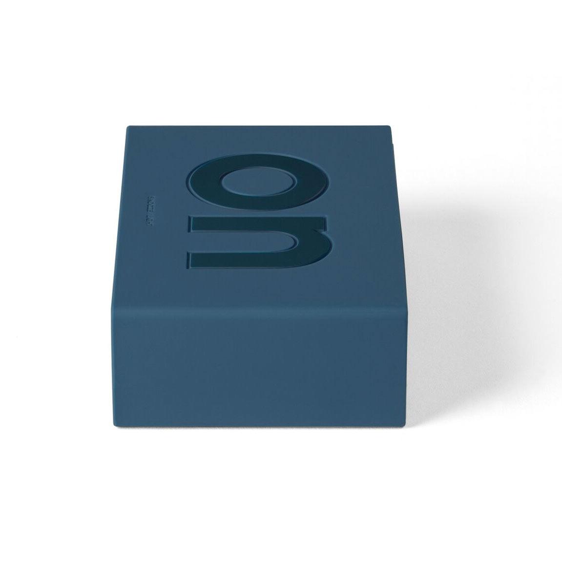 LEXON Flip LCD alarm clock LR130BF7 dark blue | The Design Gift Shop