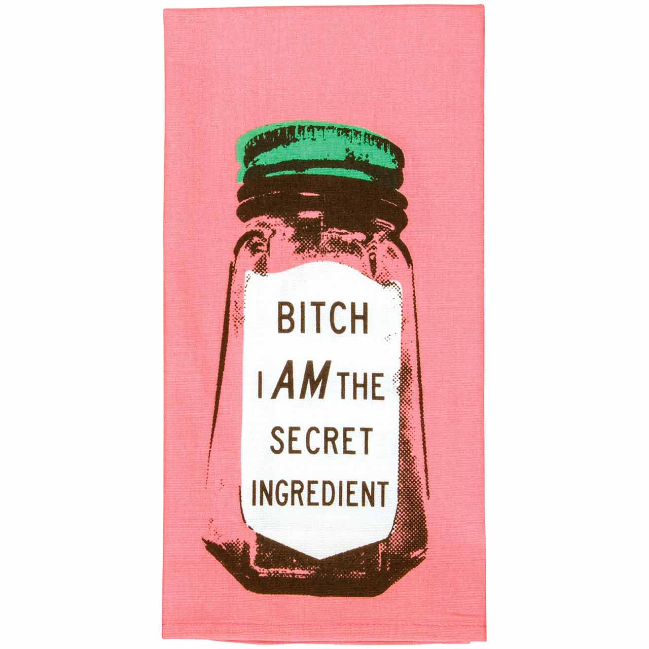 'Bitch I am the secret ingredient' Dish Towel by Blue Q  | The Design Gift Shop