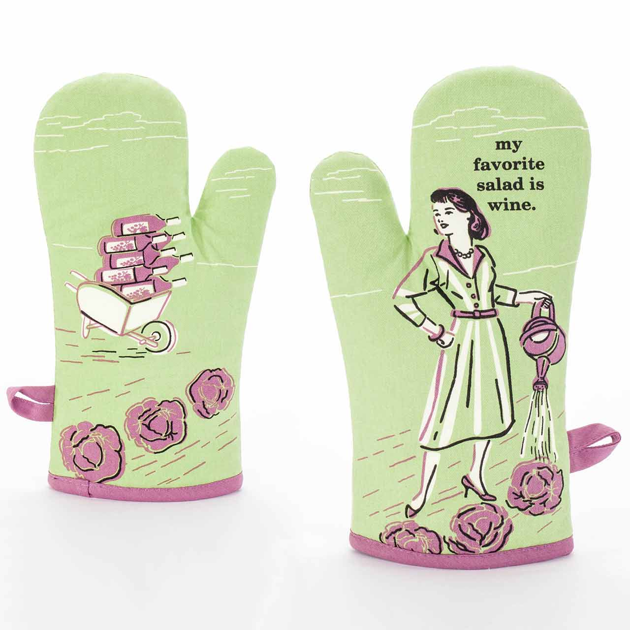 My Favourite Salad Is Red Wine - Oven Mitt by Blue Q  | The Design Gift Shop