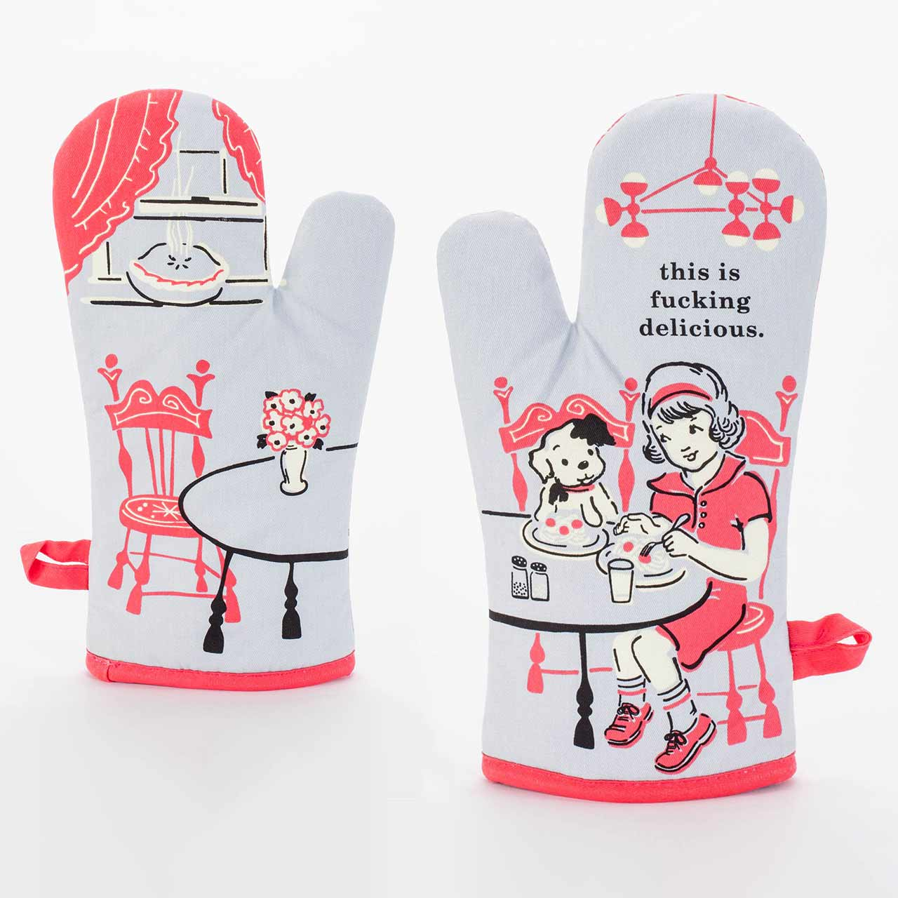 This Is Fucking Delicious - Oven Mitt by Blue Q  | The Design Gift Shop