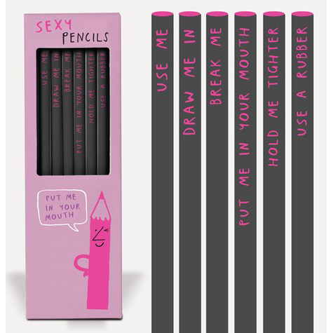 Sexy Pencils from the Sharp & Blunt range by USTUDIO | The Design Gift Shop