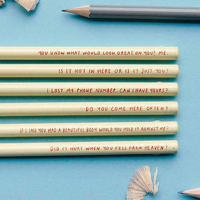 Pick Up Line Pencils from the Sharp & Blunt range by USTUDIO | The Design Gift Shop