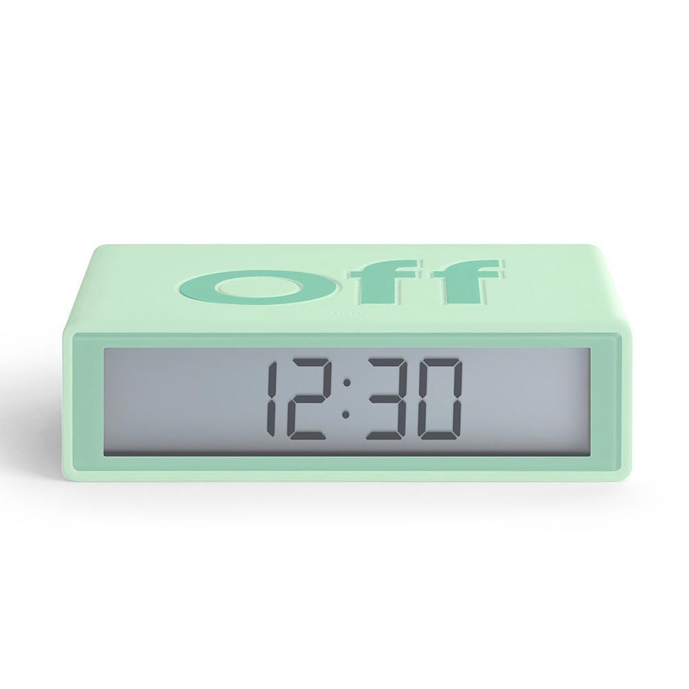 LEXON Flip LCD alarm clock LR130VC8 mint | The Design Gift Shop