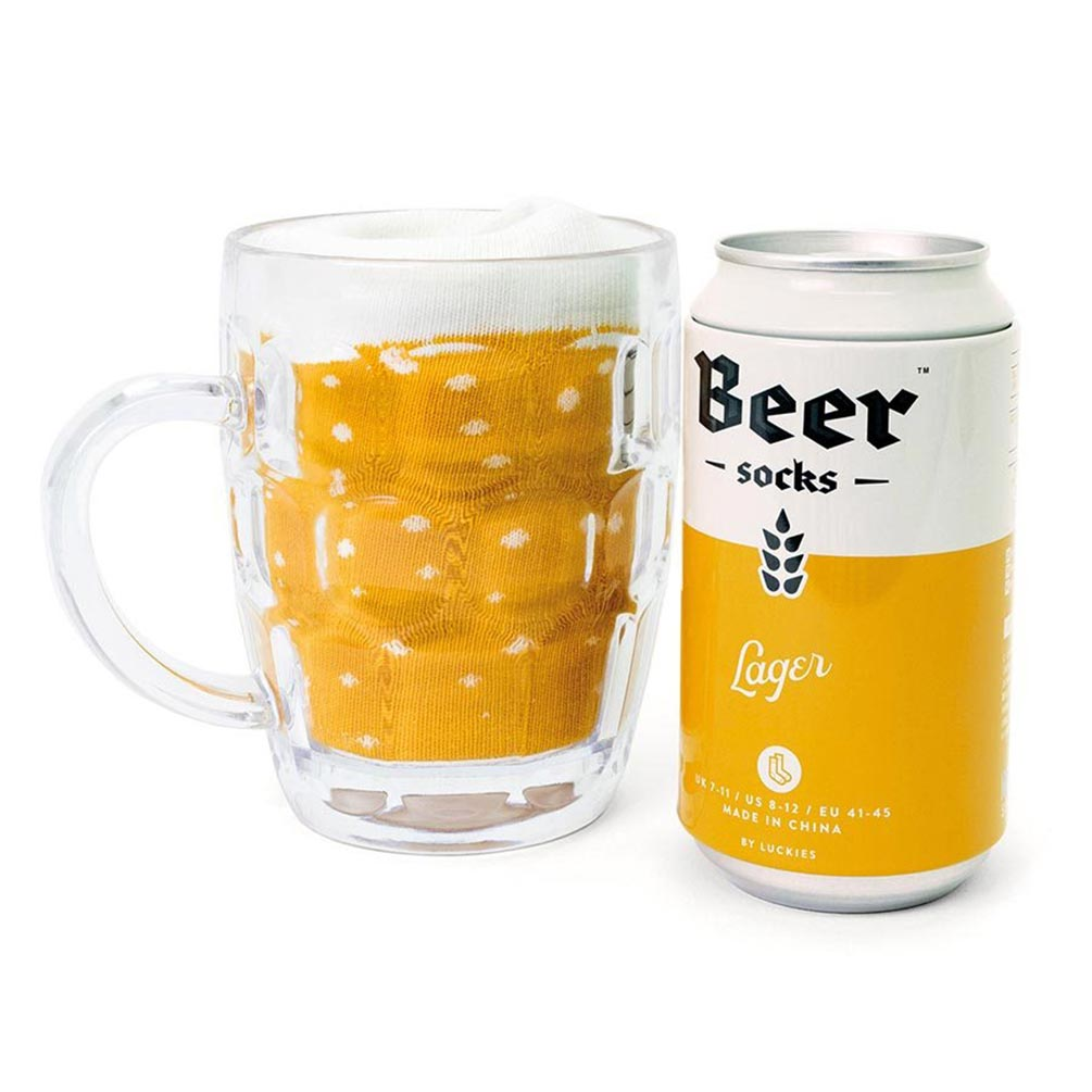 Luckies Luckies Men's Beer Socks 'Lager' | The Design Gift Shop