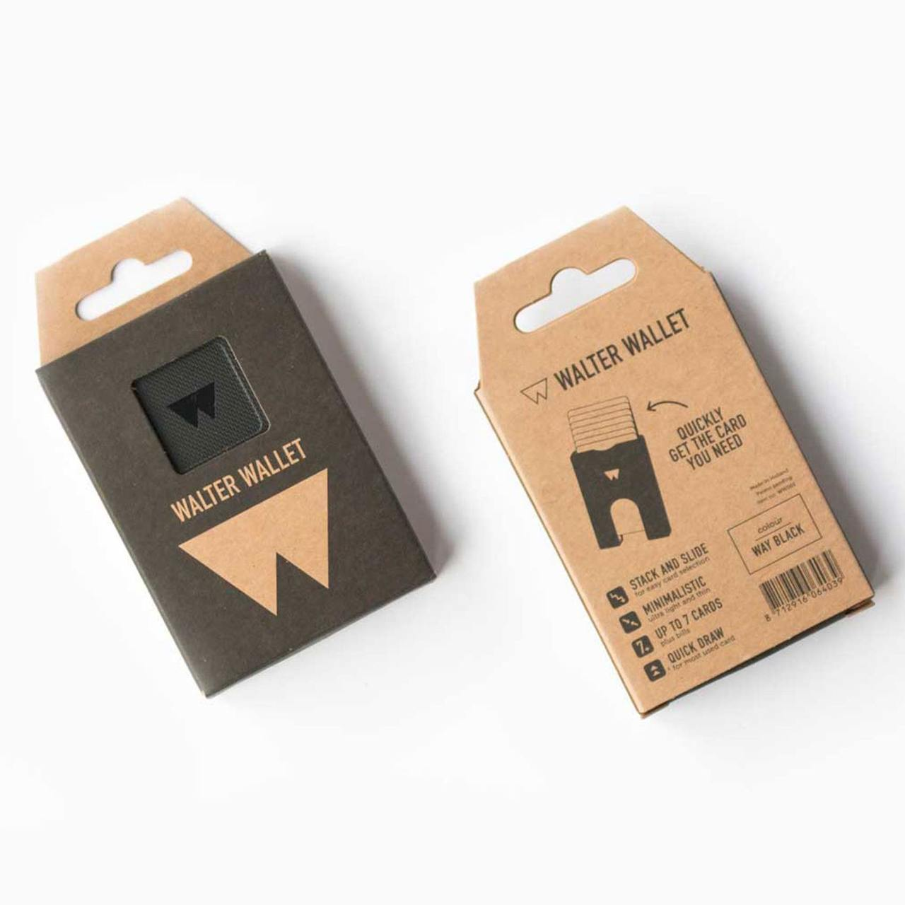 Walter Wallet Credit Card Holder Way Black   The Design Gift Shop