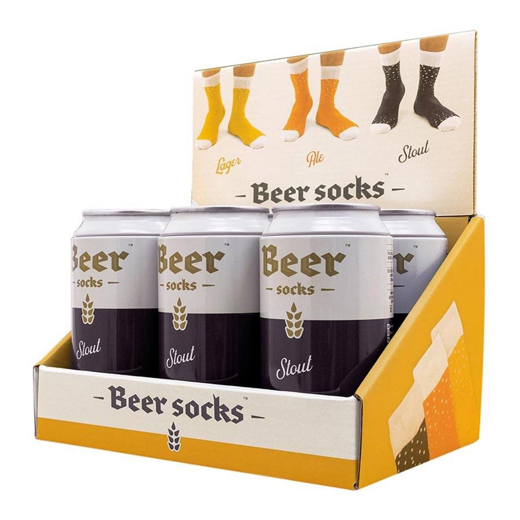 Luckies Men's Beer Socks 'Stout' | The Design Gift Shop
