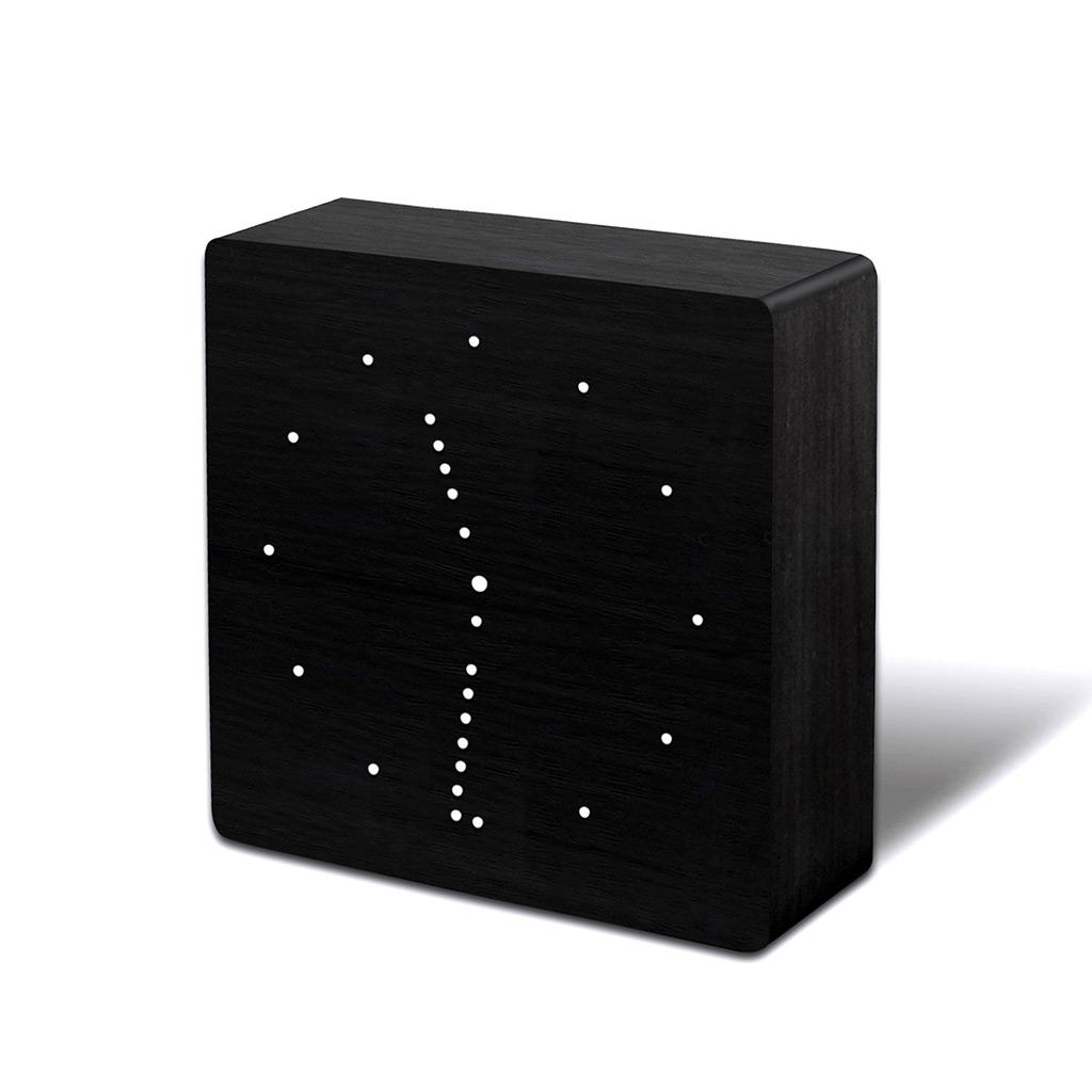 GINKGO black analog click clock | The Design Gift Shop