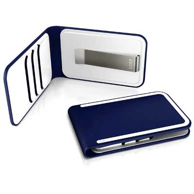 DOSH LUXE WALLET, 3 card and money clip, Style Concord