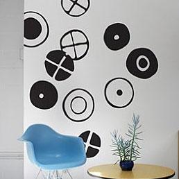 BLIK WALL DECALS, Motive Eames Circles, Colour MIDNIGHT