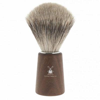 Muhle Shaving Basic H24 shaving brush, fine best badger hair, handle Acacia wood