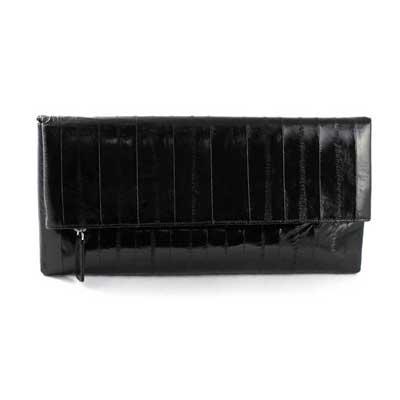 NAOMI LEVI  - MEDIUM FOLD CLUTCH  colour BLACK