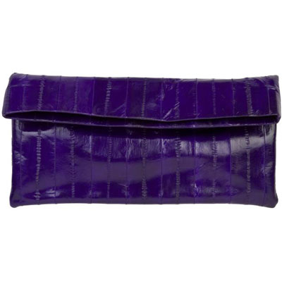 NAOMI LEVI  - LARGE FOLD CLUTCH  colour ELECTRIC PURPLE