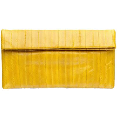 NAOMI LEVI  - LARGE FOLD CLUTCH  colour YELLOW