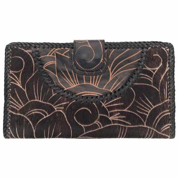 NAOMI LEVI - FUNKY FUR Purse - large clutch,  colour BLACK