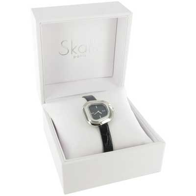 SKALLI PARIS, Galet Watch, colour BLACK, gift package