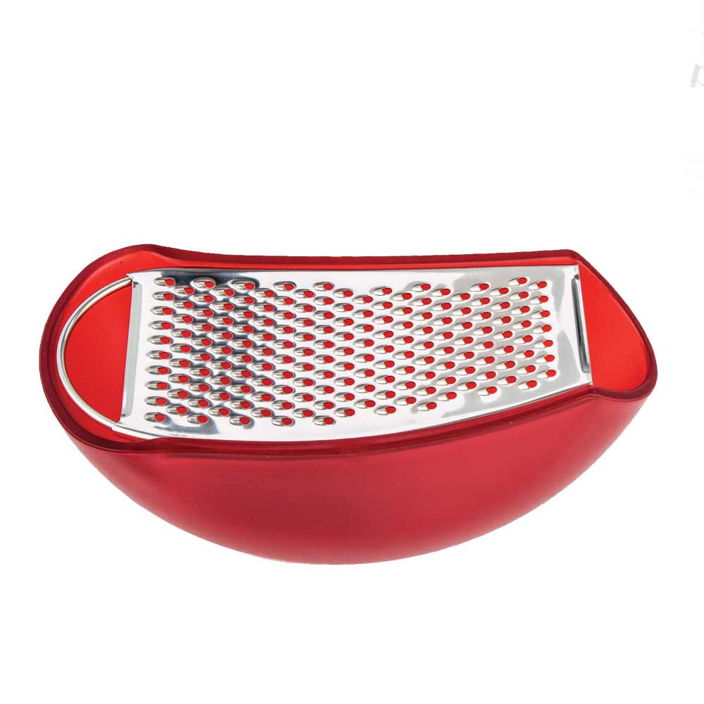 Alessi Parmenide  cheese grater with red cellar