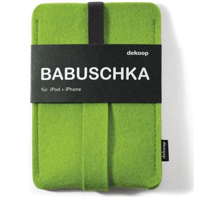 dekoop Babuschka - green felt phone case