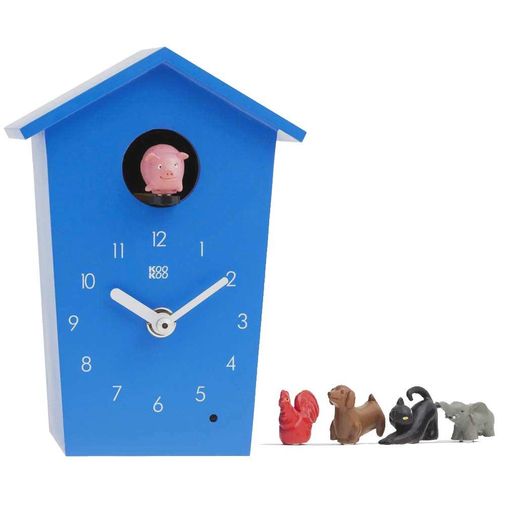 Kookoo Kids Wall Clock Animal House The Design Gift Shop