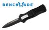 Benchmade 3350BK Mini Infidel OTF AUTOMATIC - D2 Tool Steel Double Edge Blade - BK1 Coated Blade - CUTLERY SHOPPE