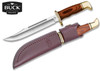"Buck Knives 0120BRS General - 7.36"" Plain Edge Blade - Cocobola Dymondwood Handle - Brown Leather Sheath - CUTLERY SHOPPE"