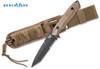 "Benchmade 141SBKSN Nimravus Tanto - 4.5"" BK1 Black Finish 154CM Combo Edge Blade - Coyote Color Handle - CUTLERY SHOPPE"