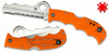 "SPYDERCO C79PSOR ASSIST 3.69"" COMBO EDGE SHEEPFOOT BLADE. CARBIDE GLASS BREAKER FEATURE. ORANGE FRN HANDLE. CUTLERY SHOPPE"