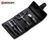 BOKER ARBOLITO 04BO606 6 PIECE MANICURE SET. COMPACT LEATHER CASE. CUTLERY SHOPPE